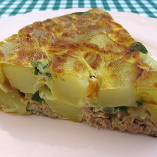 Spanish Omelette With Tuna.