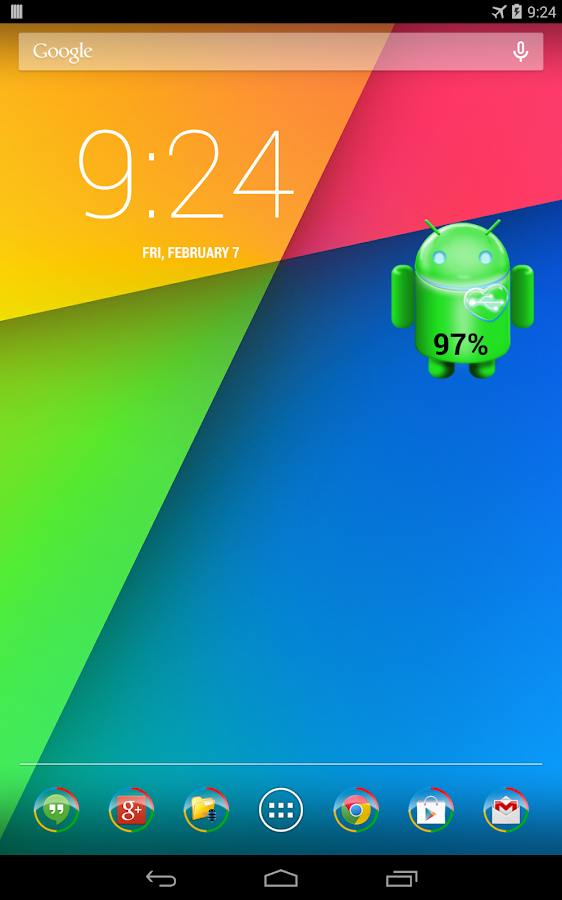 Battery Widget for Android- screenshot