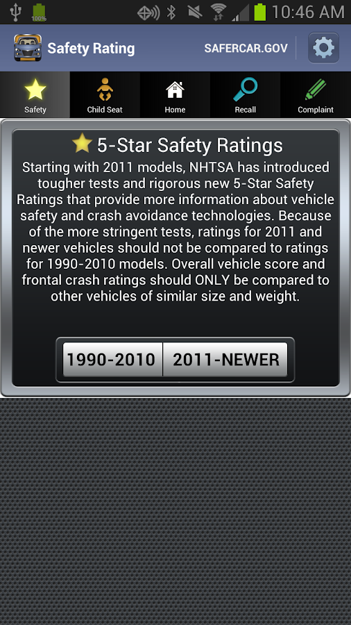 SaferCar - screenshot