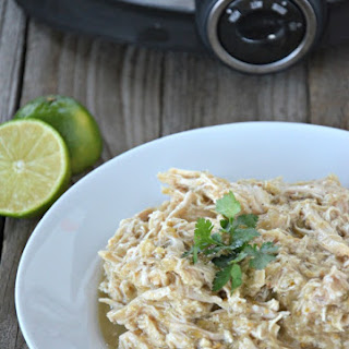 Slow Cooker Green Chili Chicken for Tacos.