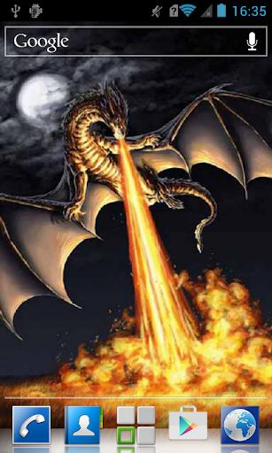 Firedrake at full moon LWP
