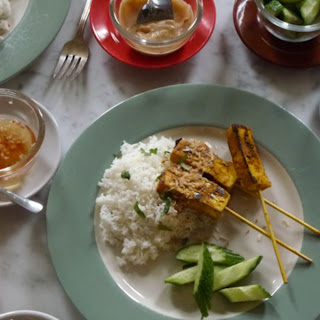 Tofu Satay with Coconut Sauce and Two Quick Dips