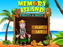 Screenshot of Memory Island: Fruits and Nuts