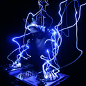 Blue DJ icon