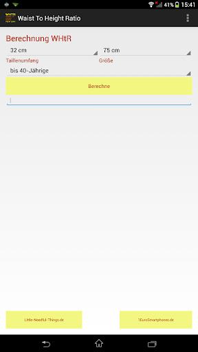 【免費健康App】WaistToHeightRatio-APP點子