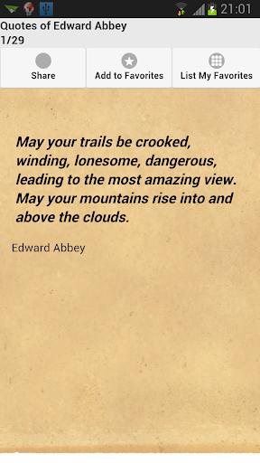 玩免費娛樂APP|下載Quotes of Edward Abbey app不用錢|硬是要APP