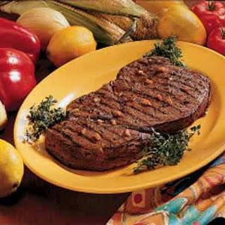 Marinated Sirloin Steak.