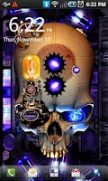 Screenshot of Steampunk Skull Live Wallpaper