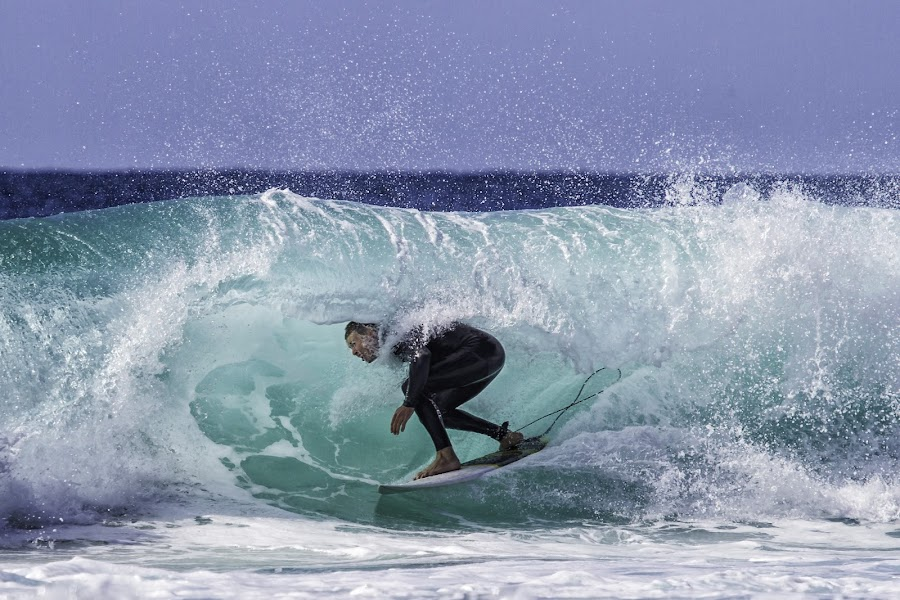 In the Tube by Sue Niven - Sports & Fitness Surfing ( burleigh heads, surfing, tube, surfer, board )