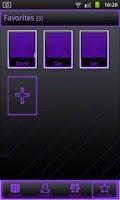 Screenshot of Neon Purple Go Contacts