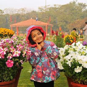 Flower Fairy Princess by अमित गर्ग - Babies & Children Child Portraits