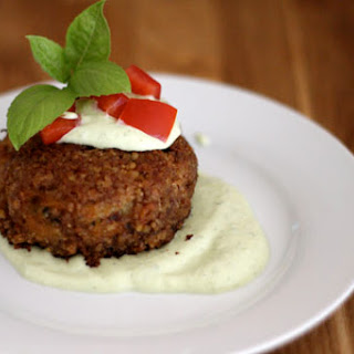 Pecan-Crusted Crab Cakes with Basil Aioli
