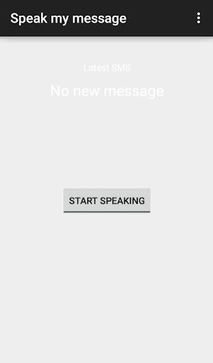 Speak my Message
