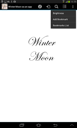 Winter Moon as an app