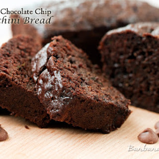 Chocolate Chocolate Chip Zucchini Bread.