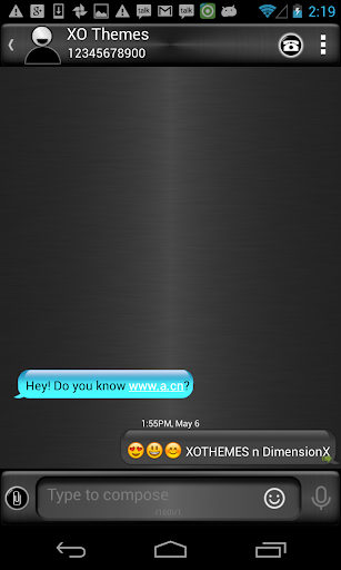 Cyanometic Theme 4 GO SMS PRO