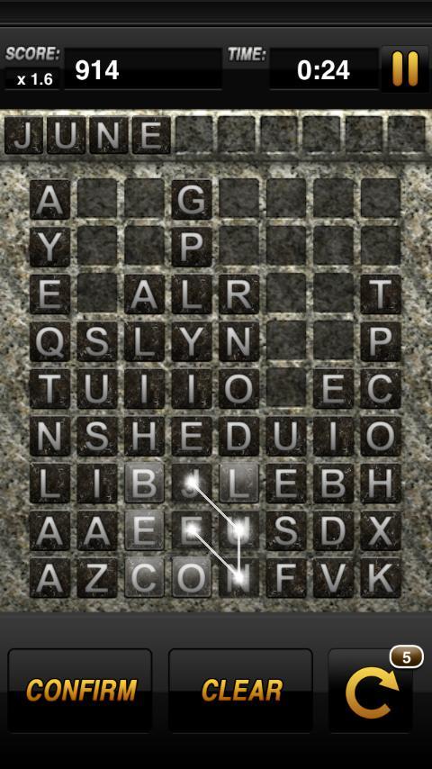 Word-Drop Mobile - screenshot