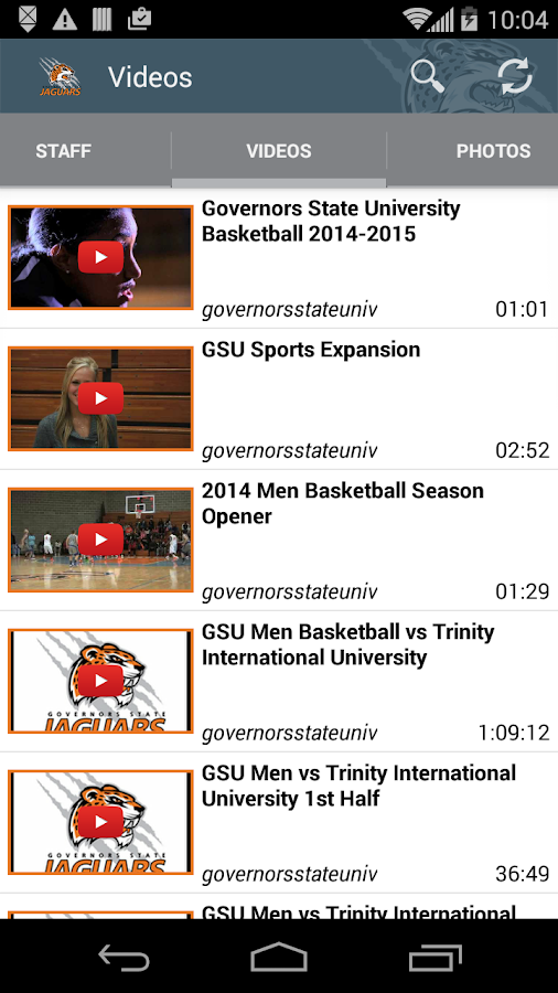 Governor State Athletics- screenshot