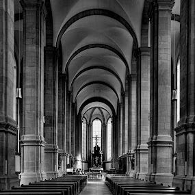 Himmerod Abbey by Michael Shaffer - Buildings & Architecture Places of Worship ( black and white, michael, michael shaffer, cathedral, shaffer, architecture, himmerod, abbey,  )