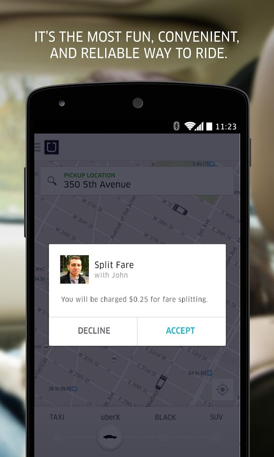 Uber - screenshot