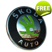 3D SKODA Logo Live Wallpaper