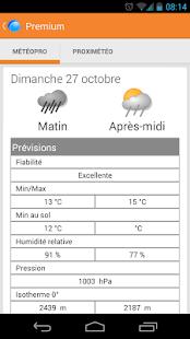 Météo en Belgique - screenshot thumbnail