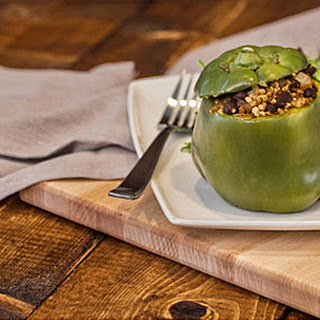 Roasted Stuffed Power Bell Peppers.