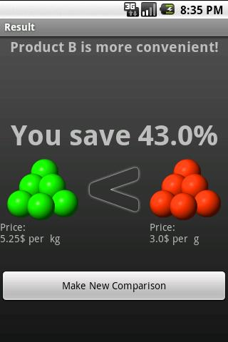 aCompare - compare prices- screenshot