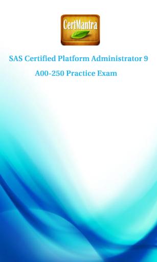 SAS Platform Admin 9 Prep