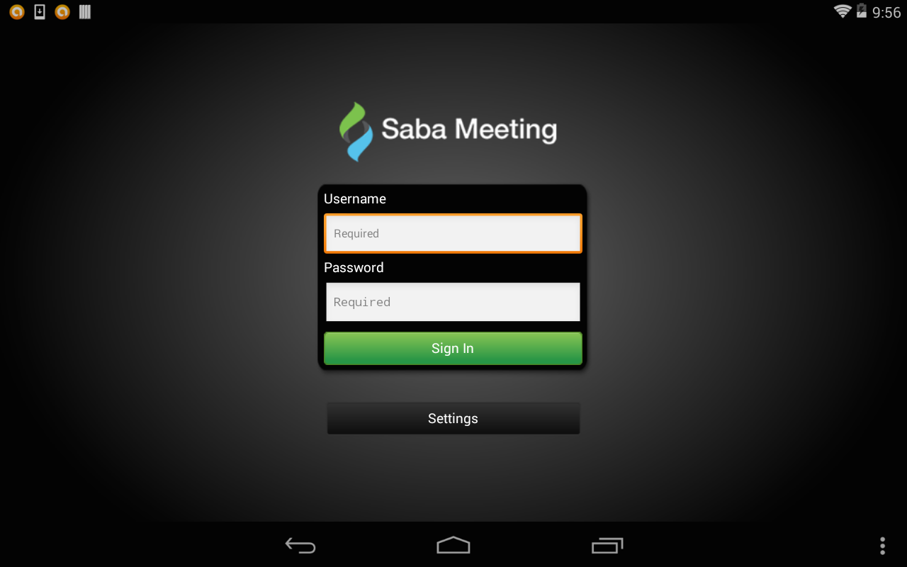 Saba Meeting - screenshot