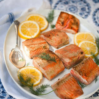 Mustard-Glazed Salmon.