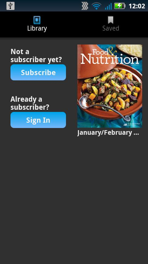 Food & Nutrition Magazine - screenshot