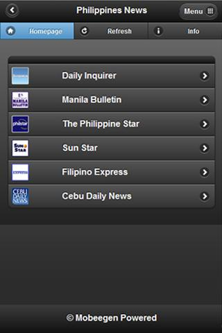 Philippines News Headline - screenshot