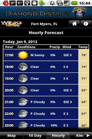 WINKweather - screenshot