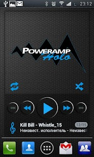 PowerAMP Holo Widget - screenshot thumbnail