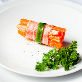 Carrots Wrapped in Bacon.