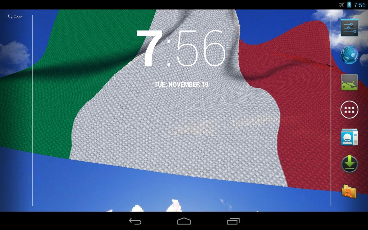 3D Italy Flag Live Wallpaper + - screenshot