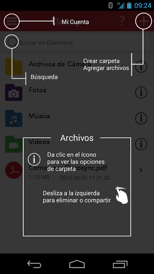 Clarosync - 5GB Gratis - screenshot