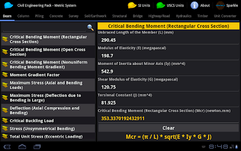 Civil Engineering Pack Tablet screenshot 0