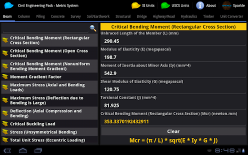 Civil Engineering Pack Tablet- screenshot thumbnail
