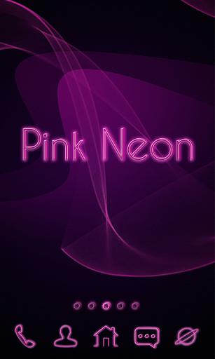 粉紅色霓虹燈啟動