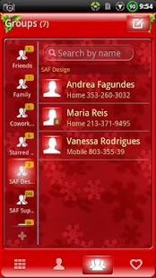 GOContacts theme CHRISTMAS- screenshot thumbnail