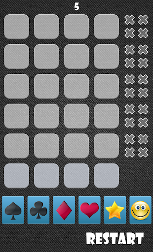 Find 4 in a row Card Game 1.0.0 screenshots 1