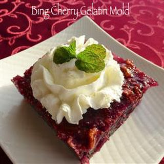 Bing Cherry Gelatin Mold