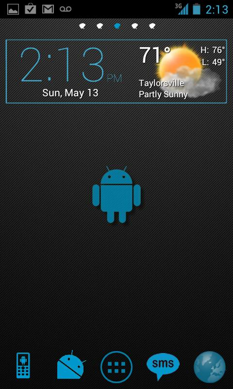 Blue Carbon Go Launcher Theme - screenshot
