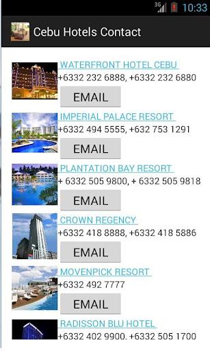 Cebu Hotel Contacts