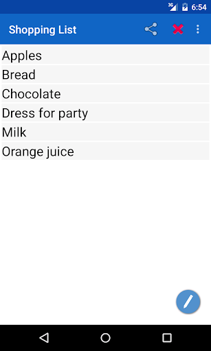 Shopping List for PC