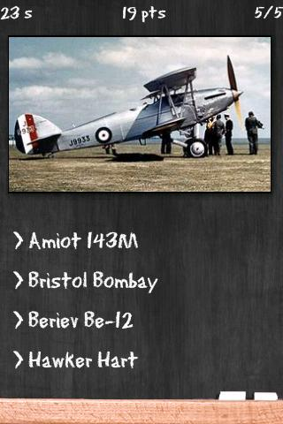 Military Bombers Quiz - screenshot