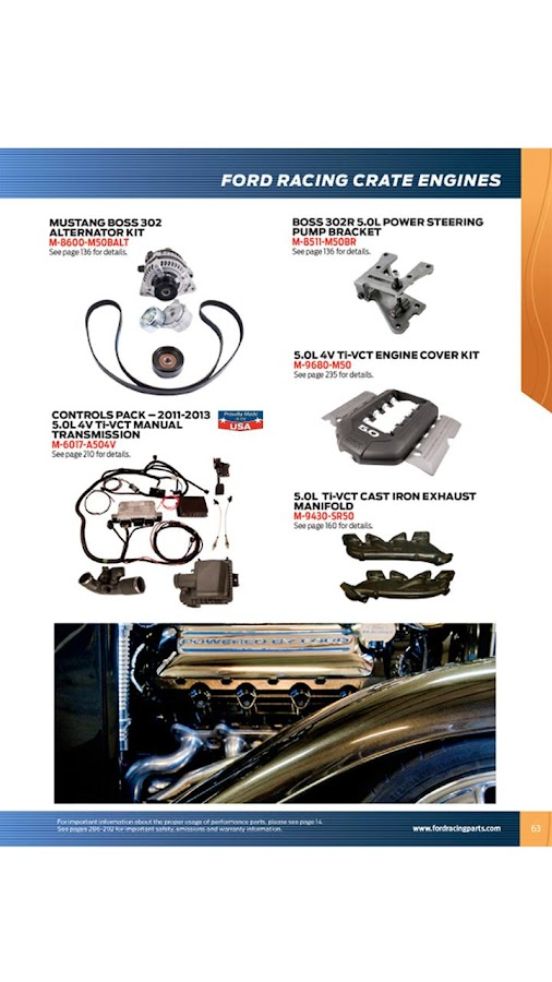 Ford Racing Parts Catalog - screenshot
