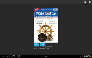 Screenshot of OBJEKTspektrum